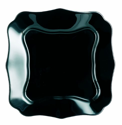 Luminarc 04286 Authentic Suppenteller 20, 5 cm Glas, Schwarz, 22.5 x 22.5 x 2.5 cm