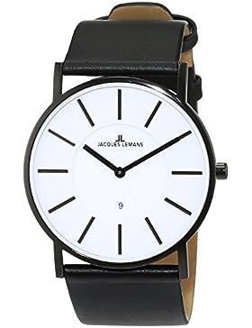 Jacques Lemans Classic Herren-Armbanduhr XL York Analog Leder 1-1620C
