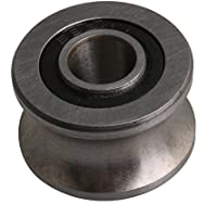 Yibuy Polea para Ranura Tipo U DE 22,5 x 13,5 mm, Acero Plateado, 12 mm