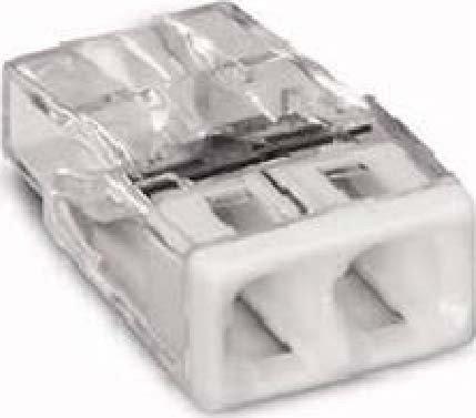 Preisvergleich Produktbild Wago 2273-202 Compact-Dosenklemme 2 x 0.5-2.5 qmm Nr.2273-202 100 Stück, weiß