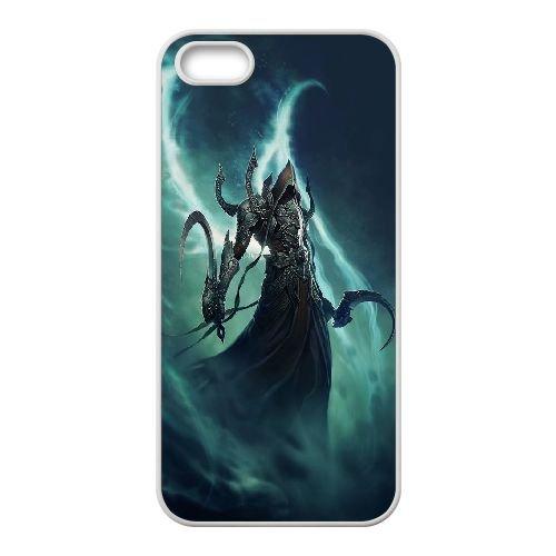 Diablo coque iPhone 5 5S Housse Blanc téléphone portable couverture de cas coque EBDXJKNBO09303