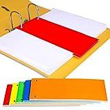 1/3A4di divisori per raccoglitori ad anelli portadocumenti oggetto, documento color Index perforate ufficio scuola fogli 50 Mix - 10 of Each Colour