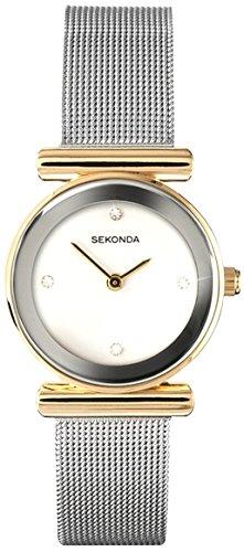 Sekonda Damen Analog Uhr mit Edelstahl beschichtet Armband 4887.27