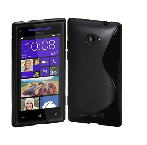 S Case Anti-skid Soft TPU Back Case Cover for HTC Windows Phone 8S (Black)  available at amazon for Rs.139