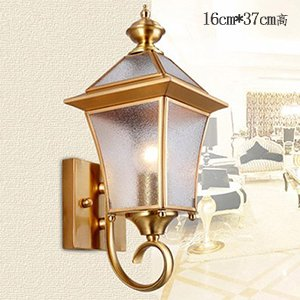 ZHFC-amerikanische outdoor wall lamp, kupfer, lampe, balkon, garten, wasserdicht, lampe, lampe, europäischen stil retro - wall lamp, korridor korridor lampe,kleine orange peel glas - Moon Peel