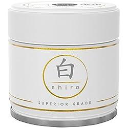 Matcha Shiro – Handgepflückter Premium Bio-Matcha-Tee aus Japan (30g) – Extrafeines Grüntee-Pulver bio-zertifiziert nach DE-ÖKO-006 – voll beschattet