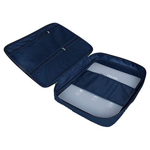 Tasche Falten (Lezed Hemdentasche Reisetasche Aufbewahrungstasche Mehrzweck-Reisen Kleidung Aufbewahrungstasche Tragbare Tasche Business Kleidertasche Leichtgewicht Wasserdichte Staubdichtes Dunkelblau)