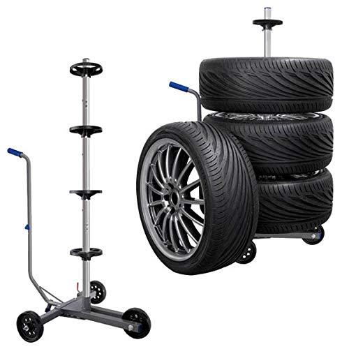 HP-Autozubehör 82116 Reifenwagen mit Feststellbremse bis Reifenbreite 225 mm