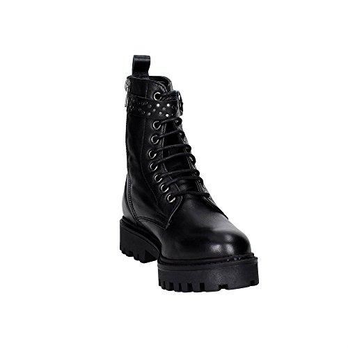 Braccialini B313P Boots Femme Cuir Noir Noir