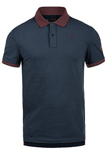 Blend Ralf Herren Poloshirt T-Shirt Kurzarm mit Polokragen Aus 100% Baumwolle Slim Fit, Größe:XXL, Farbe:Dark Navy Blue (74645) (- Polo Kragen Kurzarm Shirt)