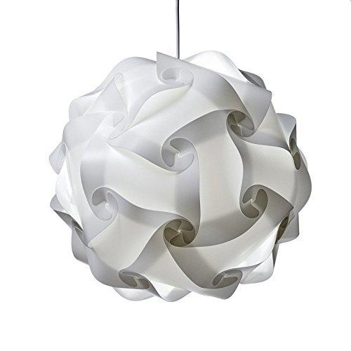 Lampe de Puzzle Abat Jour Miyare Lampe Ombre Puzzle IQ Light Moderne Eclairage Suspension DIY Lampe de Plafond pour Chambre (XL)