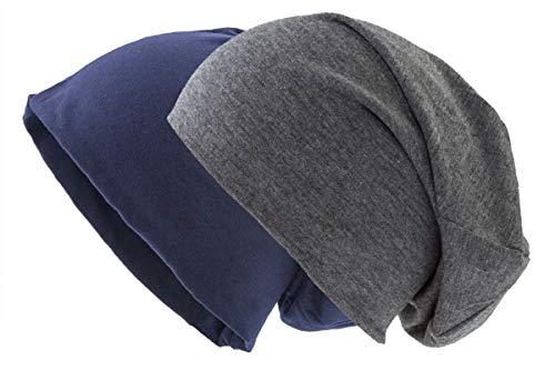 shenky Jersey Mütze unisex (Doppelpack Navy-Dunkelblau und Dunkelgrau)