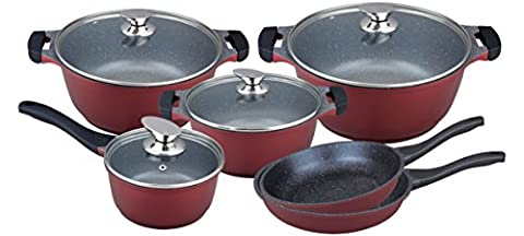 'High Quality 10 Piece Cookware Set Marble Coated/
