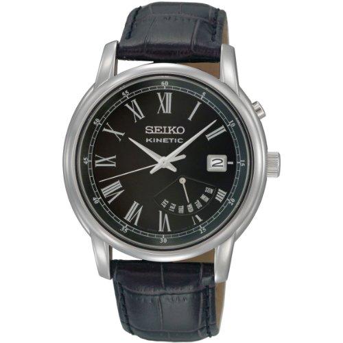 Seiko Herren-Armbanduhr XL Analog Quarz Leder SRN035P1
