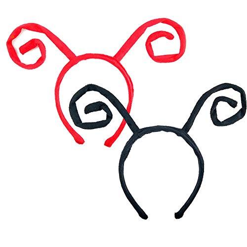 Girls Fancy Marienkäfer Kostüm - bozitian Elf Cosplay Stirnband 2 STÜCKE Kostüm Antenne Headwear Ball Anime Marienkäfer Fly Bee Ant Stirnband Für Halloween Parteien Frauen Mädchen