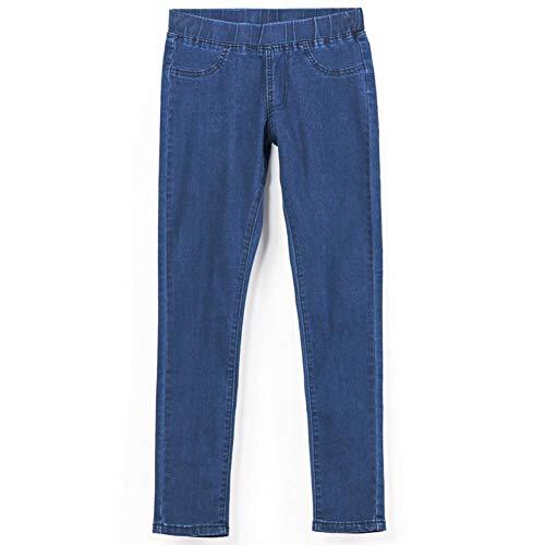 NCAYKL Frühling Und Sommer Plus Größe Mitte Elastische Taille Stretch Ankle Länge Mom Jeans Für Frauen Dünne Hosen Capris Jeans -