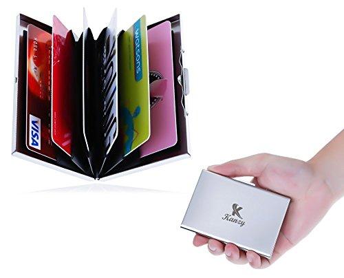 Kreditkarten Kartenetui - Portemonnaie - Wallet - Minimalisten - Kartenetui - Visitenkartenetui - Kreditkartenetui - RFID Kreditkarten Schutz Etui - Portemonnaie mit Geldklammer - Kreditkartenetuir für Damen und Herren