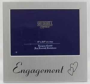 Engagement Satin Silver Photo Frame