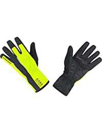 GORE BIKE WEAR Power Windstopper Soft Shell - Guantes de ciclismo para hombre, color negro/amarillo, talla 7
