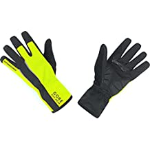 GORE BIKE WEAR Power Windstopper Soft Shell - Guantes de ciclismo para hombre, color negro/amarillo, talla 9