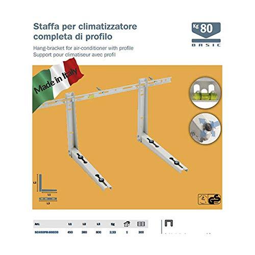Supports ECO prend en charge les tablettes pour climatiseur de contrôle climatique de 7000 à 18000 BTU, MADE IN ITALY, cert. TUV climatique.