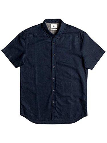 Herren Hemd kurz Quiksilver The Linen Hemd navy blazer
