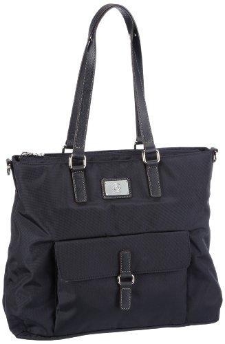 Bogner Leather Salina 0493798, Borsa a spalla donna, 45 x 32 x 12 cm (L x A x P) Blu (Blau (navy/navy 226))
