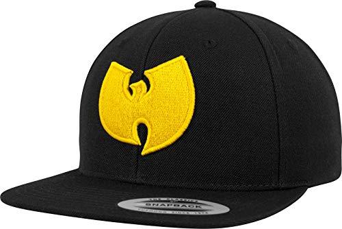 Wu Wear Unisex Snapback Cap Damen/Herren Kappe mit Wu Tang Clan Logo Stick in Gelb