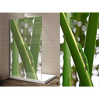 Interfoil Duschkabinen Aufkleber, Sichtschutz Duschabtrennung, hochwertiger Druck auf Glasdekor -Folie in Sandstrahl -Optik mit satinierten Oberfläche