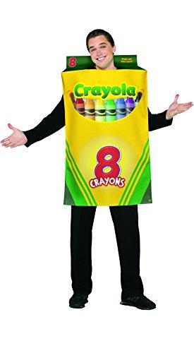 a Box von 8Kreiden männlich Kostüm (Crayola Crayon Kostüme Erwachsene)
