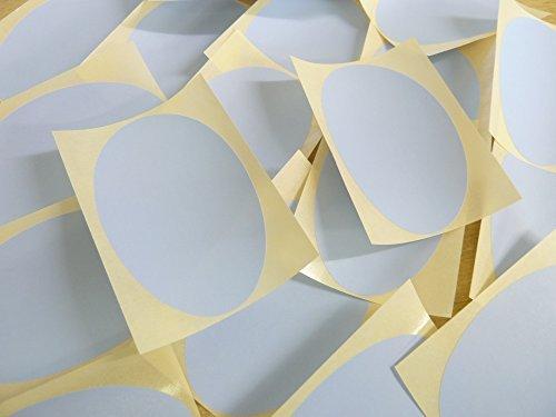 82x51mm Pálido Azul Cielo Forma Ovalada Etiquetas, 25 auta-Adhesivo Código De Color Adhesivos, adhesivo óvalos para Manualidades y Decoración