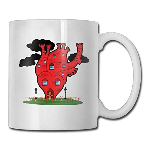 Fantasy Red House Custom Coffee Mugs 11 Oz Travel Gift Ceramic Tea Cup - Red Cup Coffee House