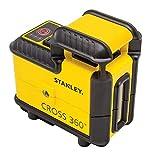 Stanley STHT77504-1 Kreuzlinienlaser SLL360° (mit roter Diode, 360° horizontale vertikalen Linie, selbstnivellierend, Laserklasse 2, inkl. Wandhalterung, 2x Batterien & Transporttasche, 1,5 V)