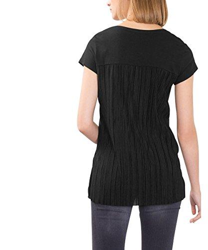 edc by Esprit 086CC1K086, Maglia a Maniche Lunghe Donna Nero (Black 001)