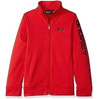 Pennant Under Armour-Giacca con zip da ragazzo, colore: rosso, taglia: