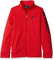 Under Armour Boy Pennant Zip Jacket Rouge FR: M (Manufacturer Size: YMD)