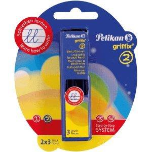 8 x Pelikan Minen für Bleistift Griffix B1RB 2mm VE=Blister 2x3 Minen