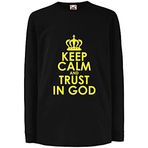 N4547D La camiseta de los niños con mangas largas Trust in God!