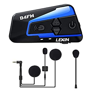 LEXIN B4FM Intercomunicador Casco Moto,