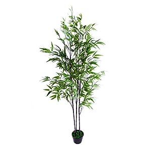 Best Artificial – Árbol de bambú Artificial (180 cm), Color Negro