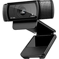 Logitech C920 HD Pro USB 1080p Webcam with Auto Focus and Microphone (Black)