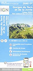 2640OT Gorges du Tarn et de la Jonte.Causse Méjan.PN des Cévennes 1:25 000
