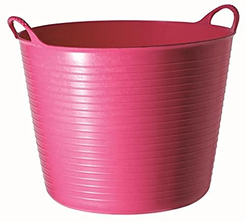 Tubtrugs 26L Medium Flexible 2-Handled Recycled Tub, Pink