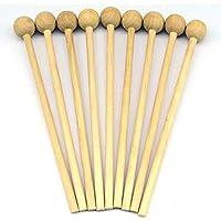 4 palillos de madera con mango de madera para instrumentos de percusión musical Orff