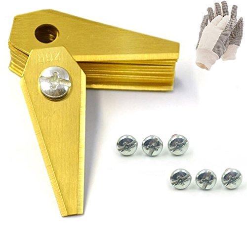 18 TITAN Ersatzmesser für Mähroboter | 1 mm | inkl. GRATIS Handschuhe | Bosch Indego | Rasenmäher Messer