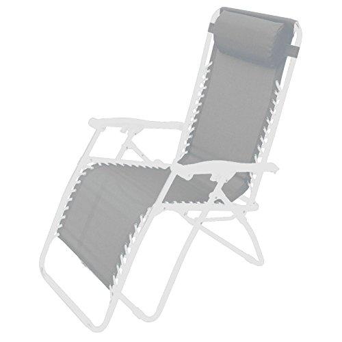 Poltrona sedia sdraio pieghevole relax reclinabile in acciaio per esterno comfort