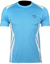 Jeansian Hombres Deporte Deportes Wicking Quick Dry Respirable Corriente Training TeeT-shirt Sport Slim Tops LSL148