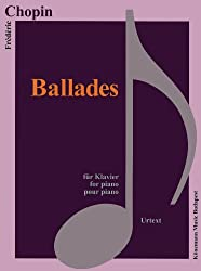 Partition - Chopin - Ballades - pour piano