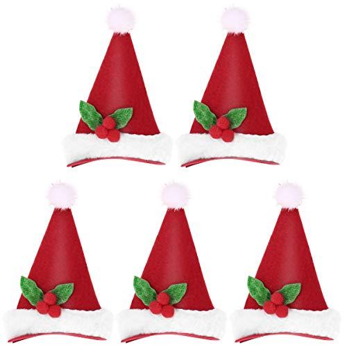 Weihnachten Hut Haarspange Kinder Mädchen Haarnadeln Xmas Party Haarspangen Neuheit LED Weihnachtsmütze Decor für Weihnachten Zubehör (Tricorne) ()