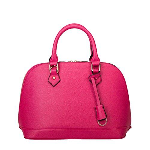 Art Und Weise Beiläufige Wilde Schalenbeutel Kurierbeutel-Schulterbeutel-Handtaschendamen Leder Pink
